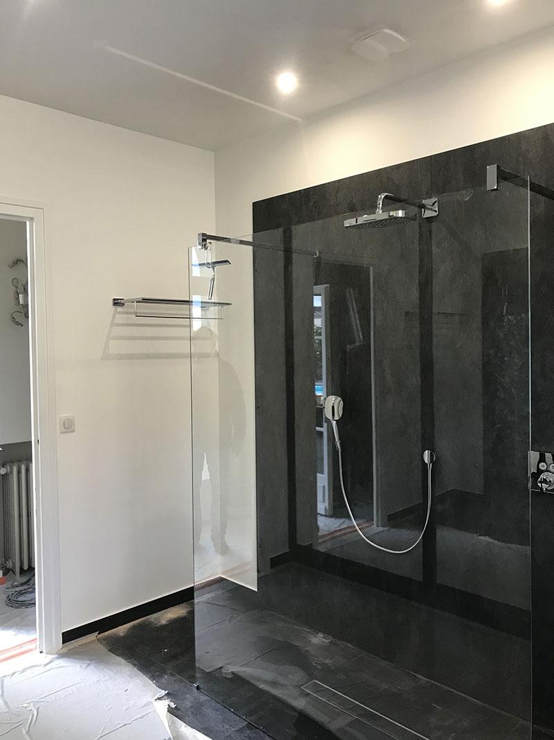 image réalisation chantier salle de bain batiserve